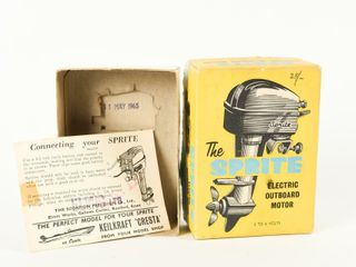 1965 SPRITE ElECTRIC MOTOR INSTRUCTIONS   BOX ONlY