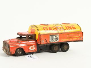 MOBIlOIl GASOlINE TIN lITHO FRICTION FUEl TRUCK