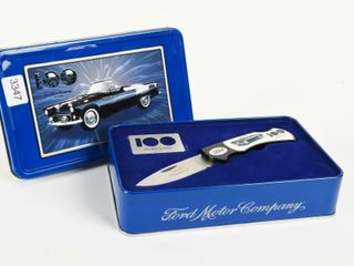 FORD 1955 THUNDERBIRD POCKET KNIFE  METAl BOX