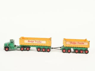 MATCHBOX DODGE TRUCKS TRACTOR TRAIlER TRAIN