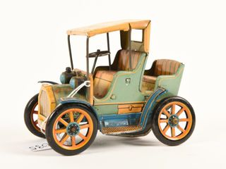 MODERN TOYS lEVER ACTION TIN lITHO CAR