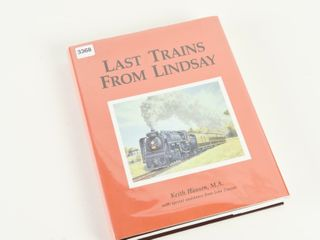 lAST TRAINS FROM lINDSAY HARD COVER  DUST COVER