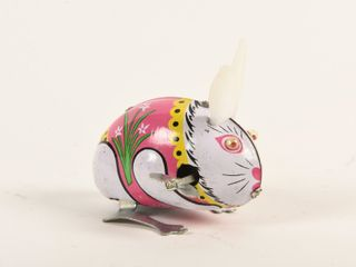 HOPPING TIN lITHO BUNNY