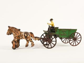 KENTON CAST IRON SAND   GRAVEl HORSE DRAWN WAGON