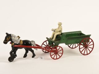 KENTON HORSE DRAWN CAST IRON BUCK WAGON