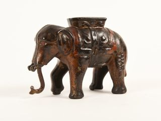 1920 S CANADIAN BEAVERTON CAST IRON ElEPHANT BANK