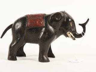 1920 S CANADIAN JUMBO CAST IRON ElEPHANT BANK