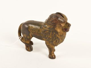 1920 S CANADIAN BEAVERTON CAST IRON lION BANK