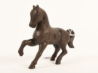 1920 S CANADIAN BEAVERTON CAST IRON PRANCING HORSE