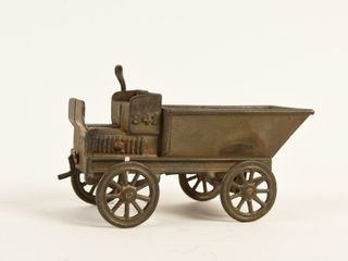 1920 S CANADIAN BEAVERTON CAST IRON DUMP WAGON
