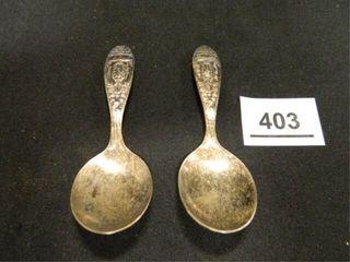 Birth Record Spoons  c 1960 s