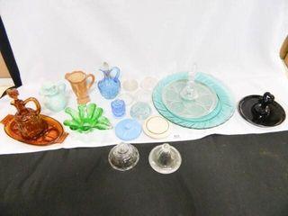 Glass Assortment  Cruet  lids