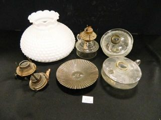 White lamp Shade  Oil lamp Parts