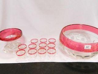Thumbprint Cranberry Punch Bowl