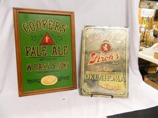 Oklahoma Stroh s Beer Mirror Sign