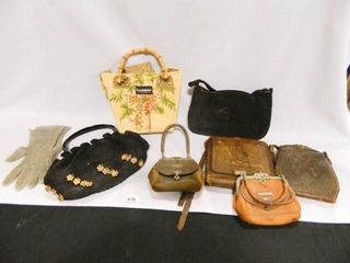 Vintage Purses  Including  leather