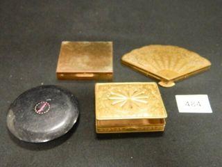 Compacts  Gold tone 3  Plastic 1