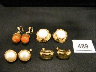 Clip On Earrings  4 Sets