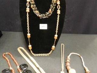 Necklaces   6  Gold tones  Browns
