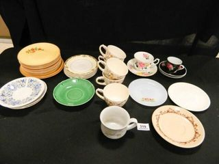 Cups   Saucers  Assorted