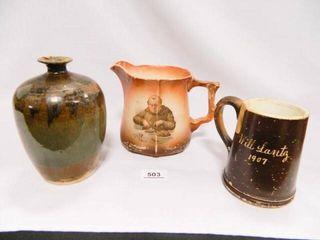 Signed Urn  1907 Mug  Pitcher