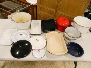 Enamelware Pots  lids