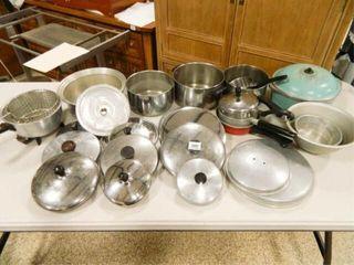 Pots   Pans  lids  Assorted