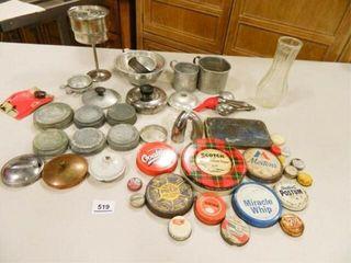 Zinc lids  Teapot Spouts  Tin Items