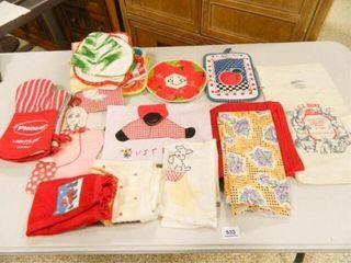 Feed Sack  Pot Holders  Towels