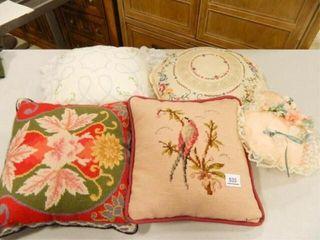 Decorative Pillows w Needlework