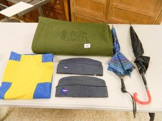 U S  Wool Blanket  Garrison Caps