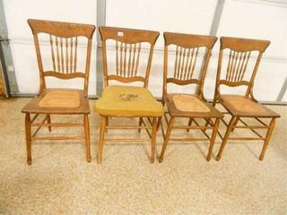 Chairs  4  Cane Bottom Seats
