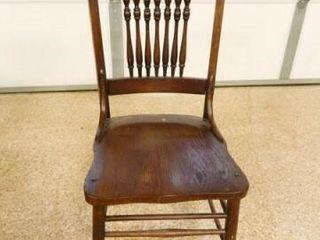 Dark Oak Spindle Back Chair