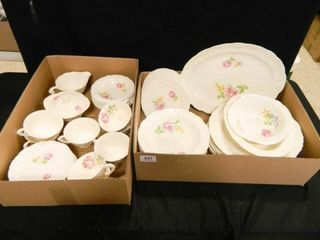 Rose Point China Set  53 Pieces