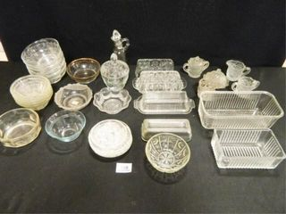 Glass Dishes  30  Pieces  Assorted