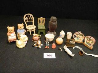 Miniature Figurines  Doll Furniture