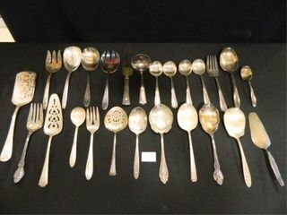 Serving Pieces  Mostly Silverplate
