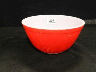 Pyrex Red Mixing Bowl   402