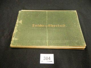 GermanIJ Music Book  c 1894