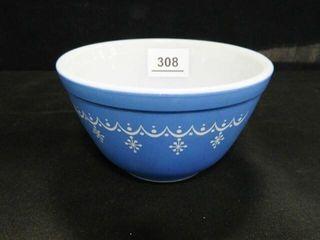 Pyrex Blue Bowl w Snowflake Design