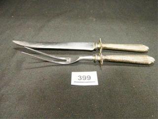 Sterling Silver Knife   Fork