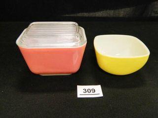 Pyrex Pink Refrigerator Dish w lid