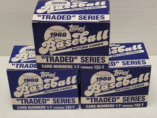 1988 Topps Traded Baseball Complete 132 Card Set lot of 3