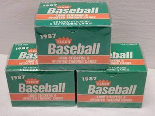 1987 Fleer Update Baseball Complete 132 Card Set lot of 3
