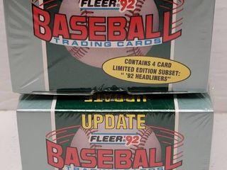 1992 Fleer Update Baseball Complete 132 Card Set lot of 2