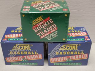 1991   1992 Score Rookie   Traded Baseball Complete 132 Card Set lot