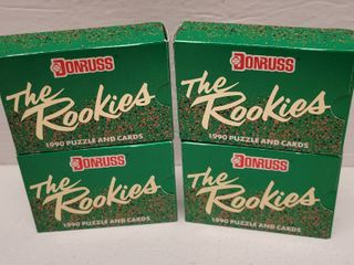 1990 Donruss Baseball Complete 56 Card Set lot of 4
