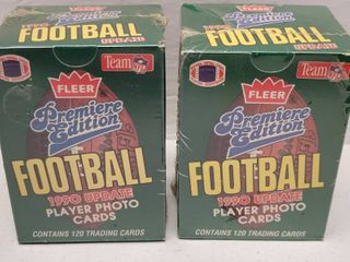 1990 Fleer Update Football Complete 120 Card Set lot of 2 w  Emmitt Smith Rookie