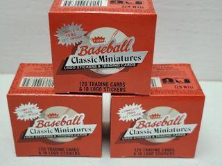 1986 Fleer Mini Baseball Complete 120 Card Set lot of 3