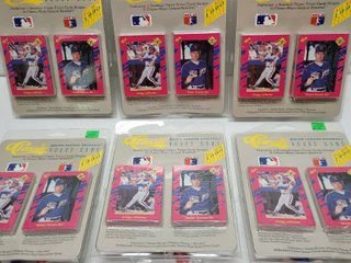 1990 Classic Baseball Complete 50 Card Set lot of 6 New